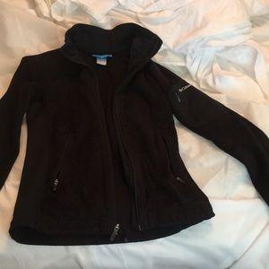 Fuzzy black Columbia jacket